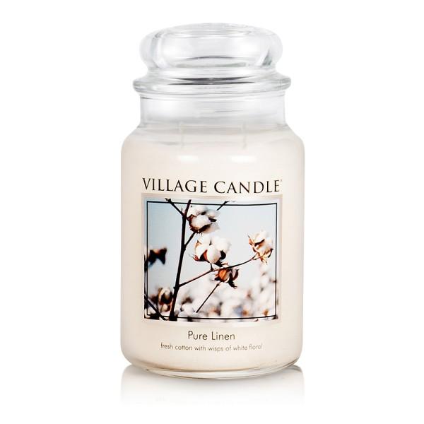 Pure Linen 26 oz Glas (2-Docht) Village Candle