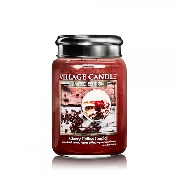 Cherry Coffee Cordial 26 oz LE Glas (2-Doch) Villa