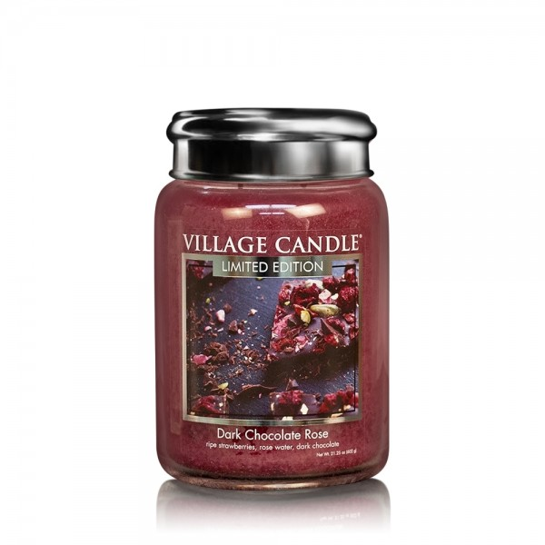 Dark Chocolate Rose 26 oz LE Glas (2-Docht) Villag