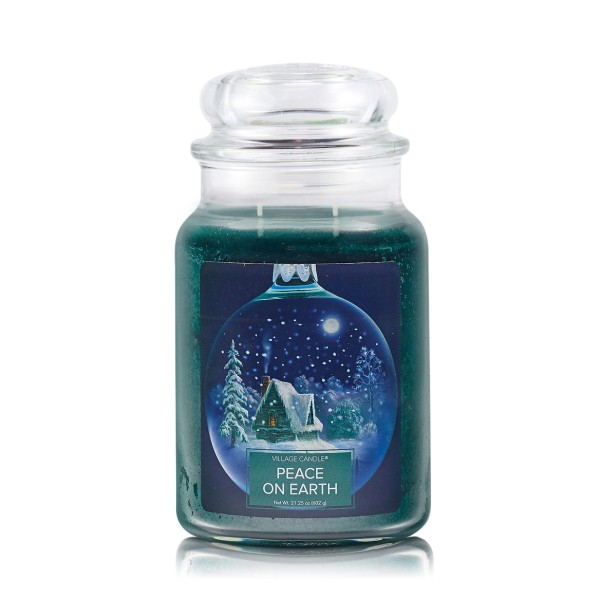 Peace on Earth 26 oz Glas (2-Docht) Village Candle