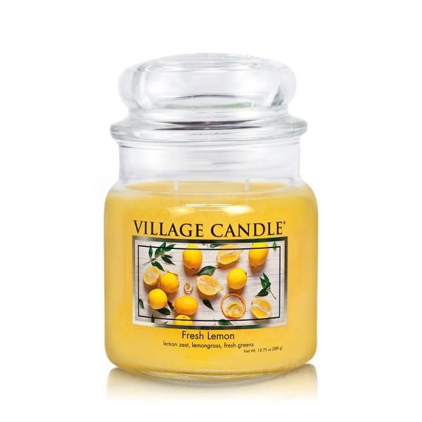 Fresh Lemon 16 oz Glas (2-Docht) Village Candle