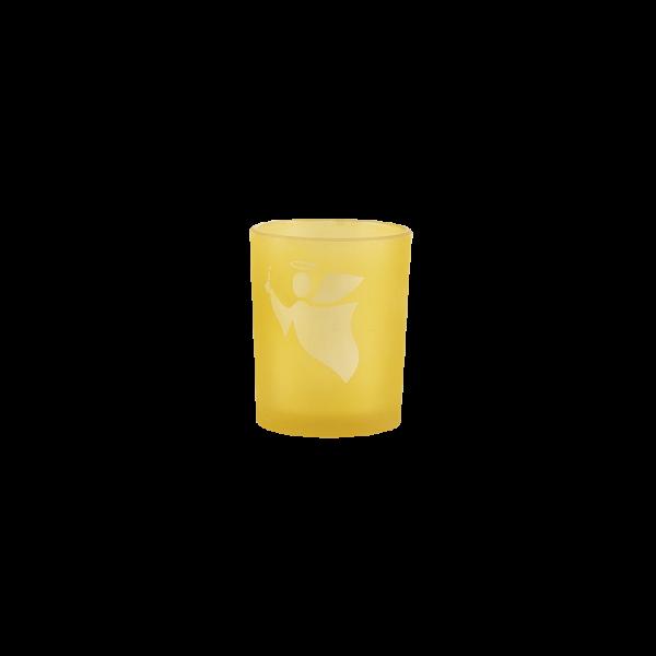 Votivglas Engel gelb