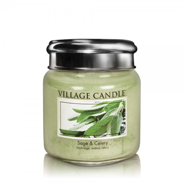 Sage & Celery 16oz 2-Docht Village Candle