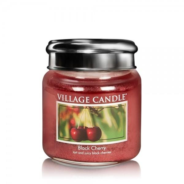 Black Cherry 16 oz Glas (2-Docht) Village Candle