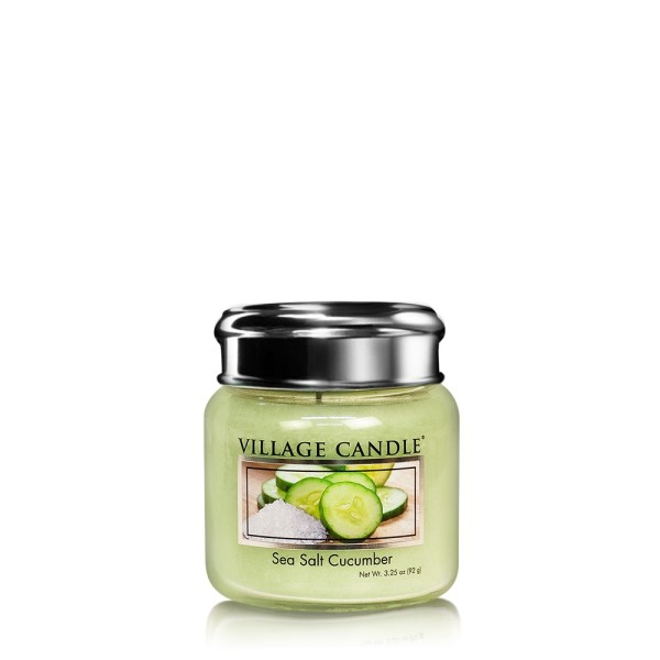 Sea Salt  Cucumber 3.75 oz Glas Village Candle
