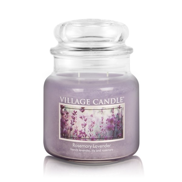 Rosemary Lavender 16 oz Glas (2-Docht) Village Can