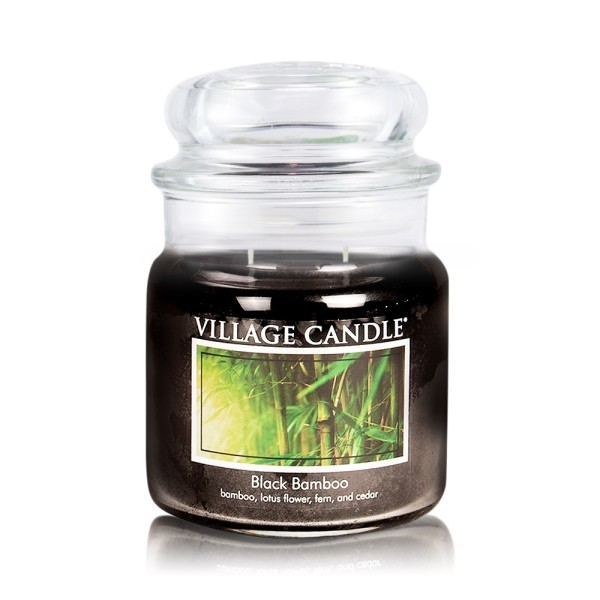 Black Bamboo 16oz 2-Docht Village Candle