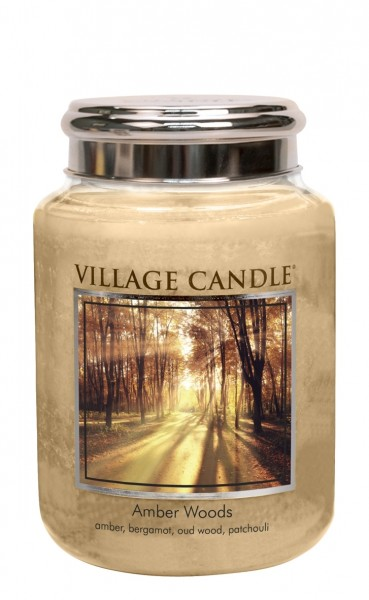 Amber Woods 26oz 2-Docht Village Candle